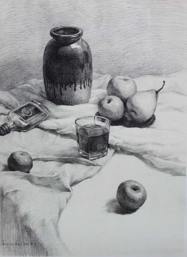 静物素描罐子_素描静物的学习方法 - 美术宝