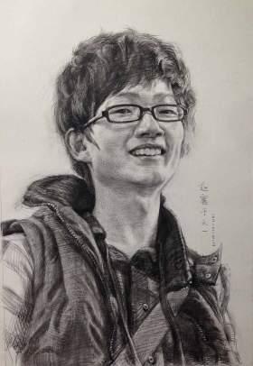天一画室赵赛老师素描作品