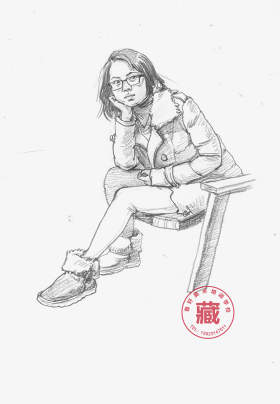 重庆鲁轩画室速写图4