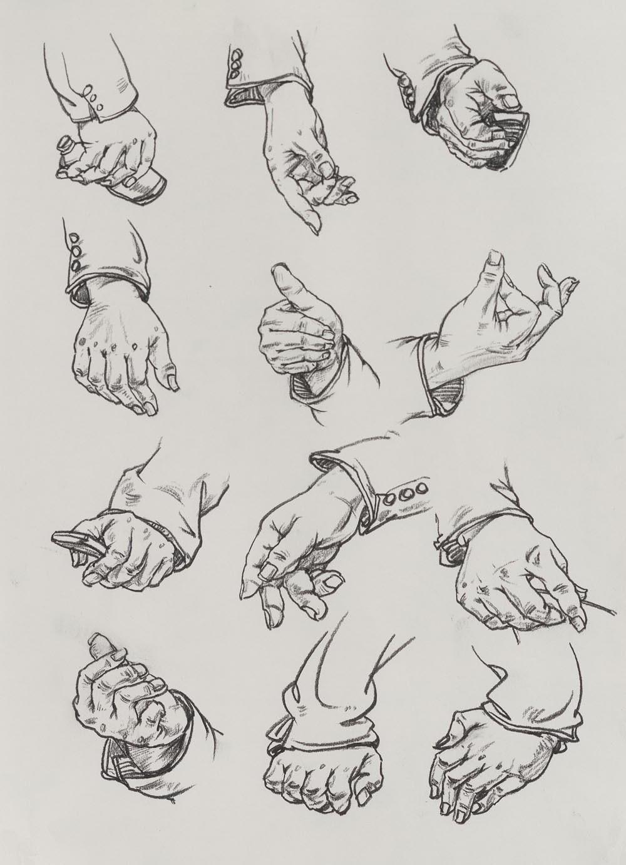 速写:手部结构与画法