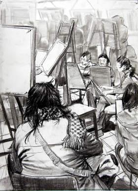 北京周达画室速写图3