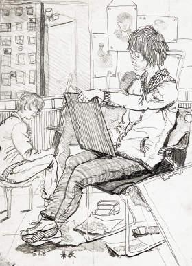 北京周达画室速写图8