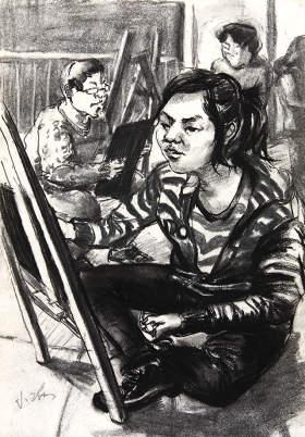北京周达画室速写图1