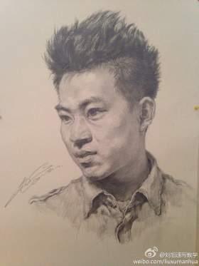 刘旭-素描头像