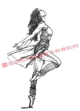 跳舞单人速写