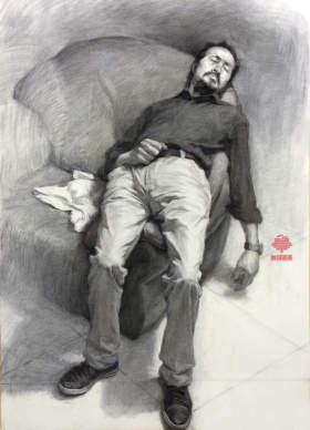 杭州白墻畫室素描圖2