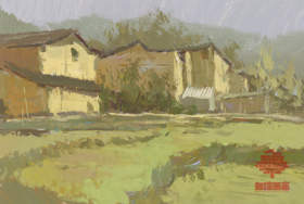 杭州白墻畫室色彩圖2